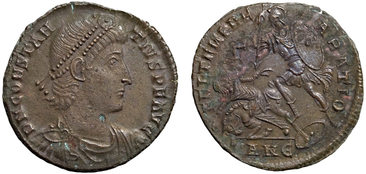 Bronze coin of Constantius II showing signs of active bronze disease (the blue spot on the Emperoru0027s neck). Without treatment the corrosion may worsen ...  sc 1 st  Ancient Coin Club of Los Angeles & ACTA ACCLA - Treatment of Bronze Disease Aboutintivar.Com