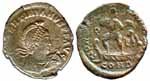 Bronze centionalis of Valentinian II
