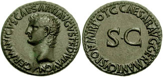 As of Caligula showing his father Germanicus