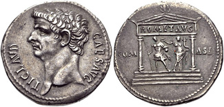 Cistophorus of Claudius struck 41-42 CE in Pergamum