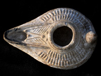 Islamic Mold-made Oil Lamp. Seventh-Ninth Century CE.
