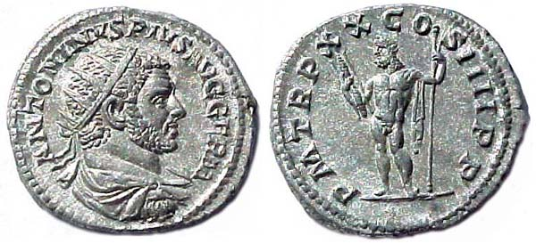 Antoninianus of Emperor Caracalla