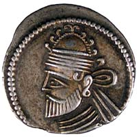 Drachm showing Pacoros II, King of Parthia