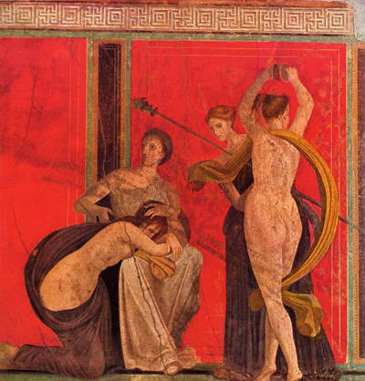 Villa of the Mysteries, Pompeii, showing a ritual scourging
